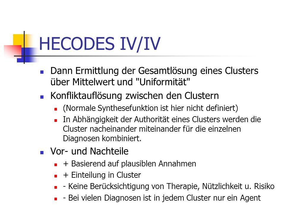Verrechnung von Lösungen (HECODES III/IV) Unterscheidung Konflikt (Contradiction) Knowing / Ignoring Different Values for Attributes (Inconsitency) No