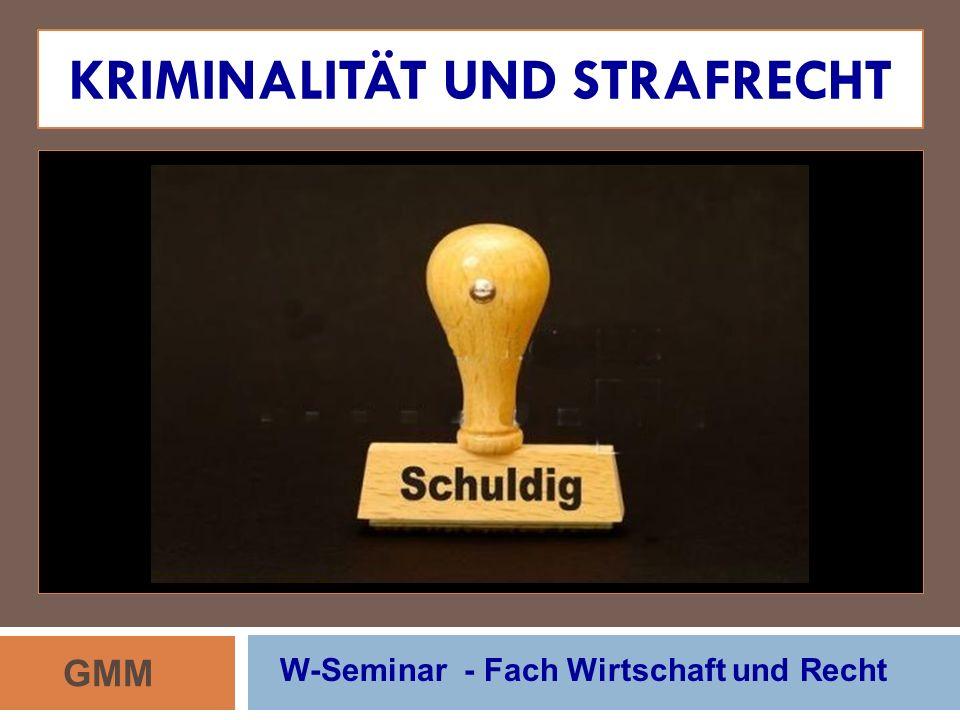 KRIMINALITÄT UND STRAFRECHT GMM W-Seminar - Fach Wirtschaft und Recht