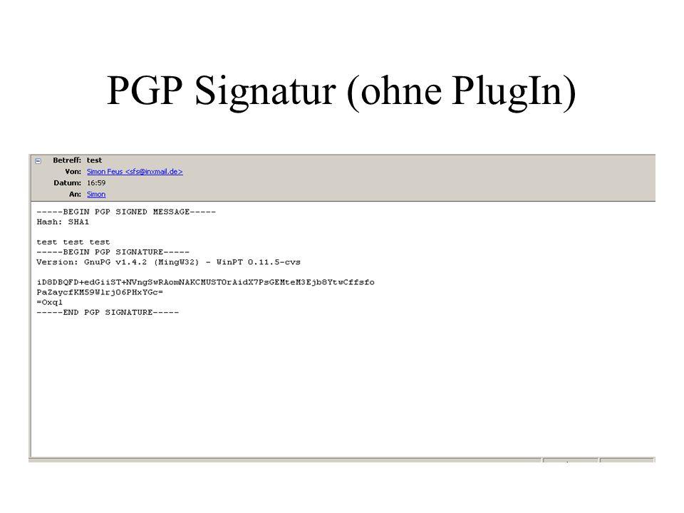 PGP Signatur (ohne PlugIn)