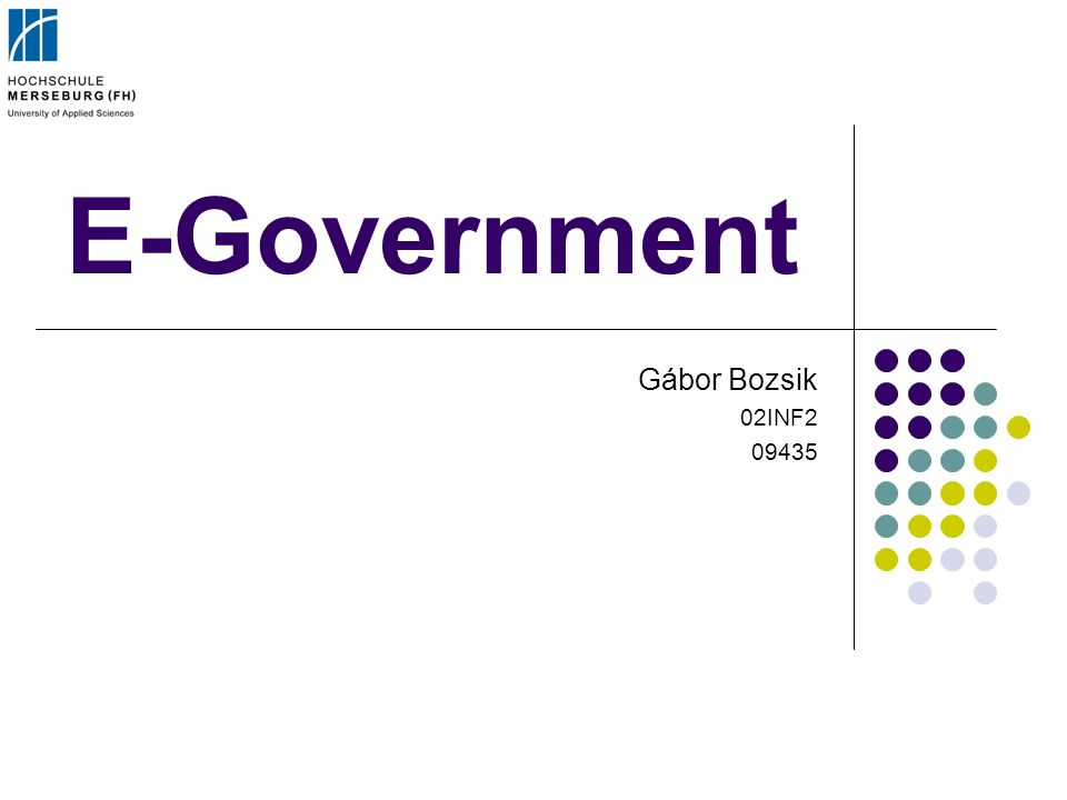 E-Government Gábor Bozsik 02INF2 09435