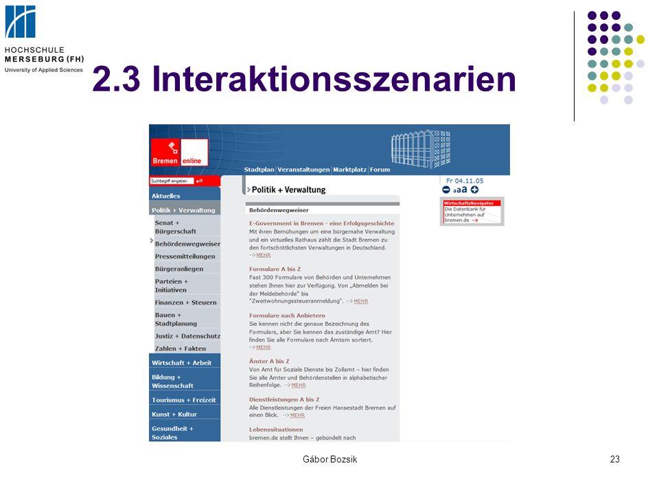 Gábor Bozsik23 2.3 Interaktionsszenarien