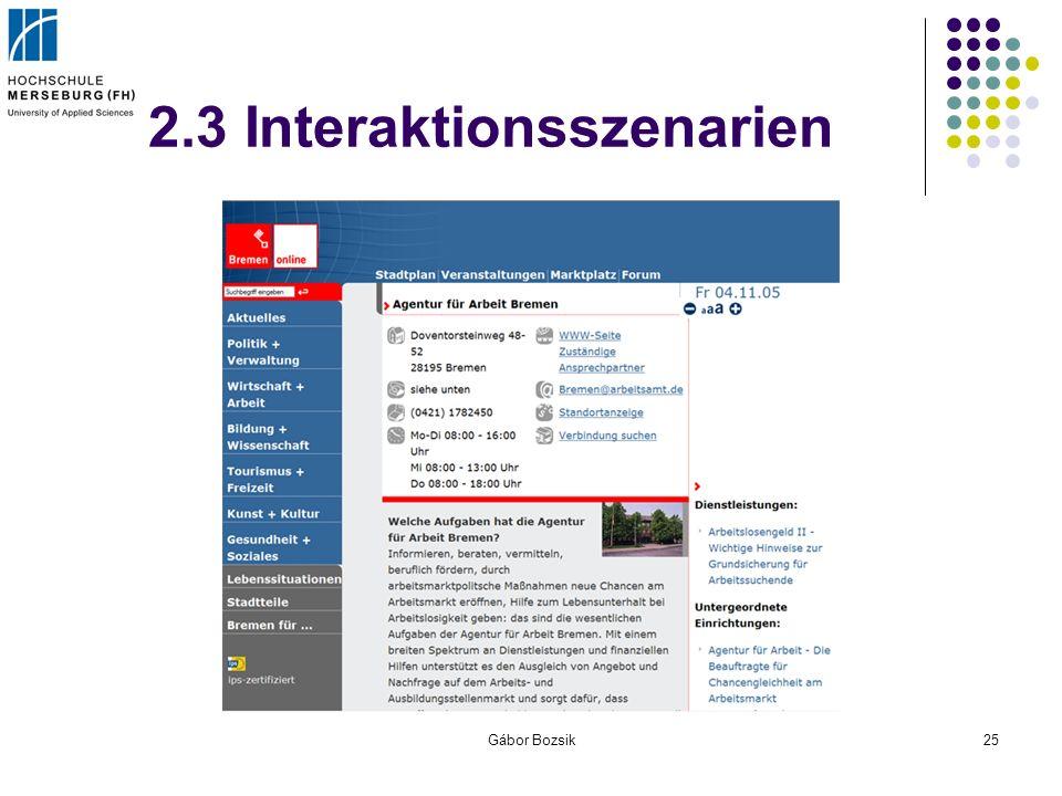 Gábor Bozsik25 2.3 Interaktionsszenarien