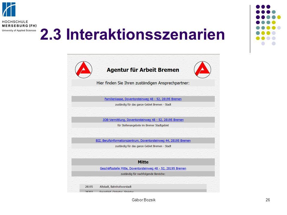 Gábor Bozsik26 2.3 Interaktionsszenarien
