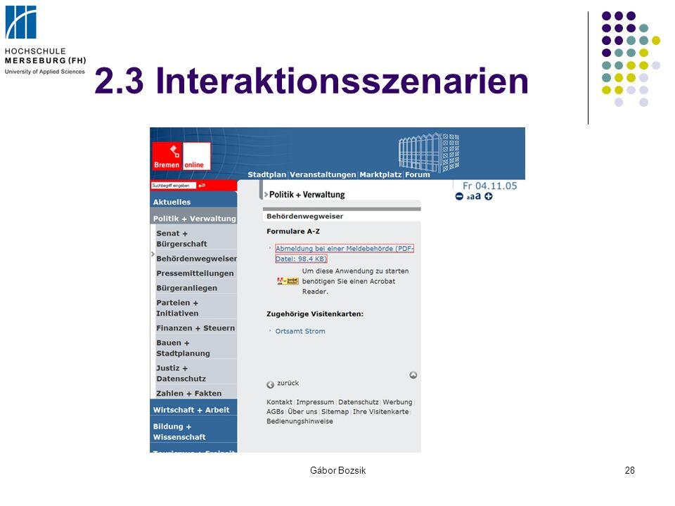 Gábor Bozsik28 2.3 Interaktionsszenarien