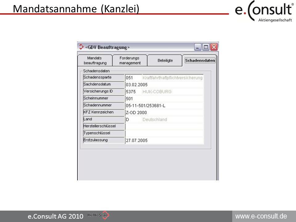 e.Consult AG 2010 Mandatsannahme (Kanzlei)