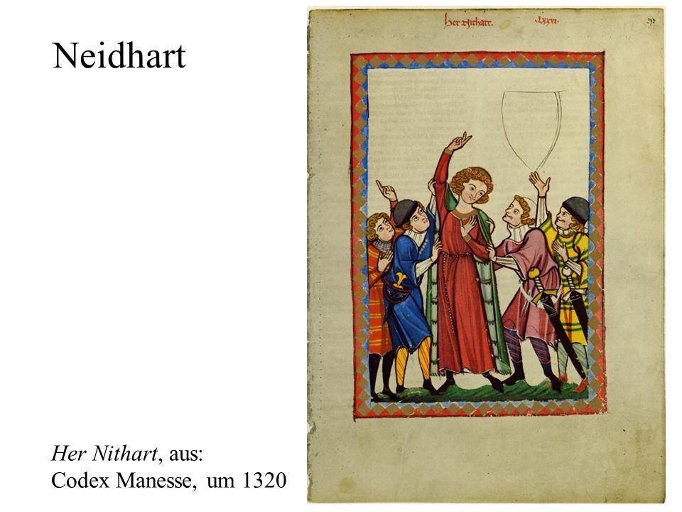 29 Neidhart Her Nithart, aus: Codex Manesse, um 1320