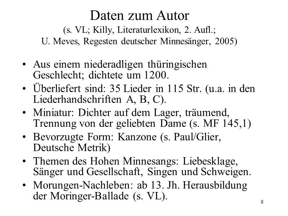 19 Hartmanns 3.Kreuzlied (MF 218,5) Gliederung 1.