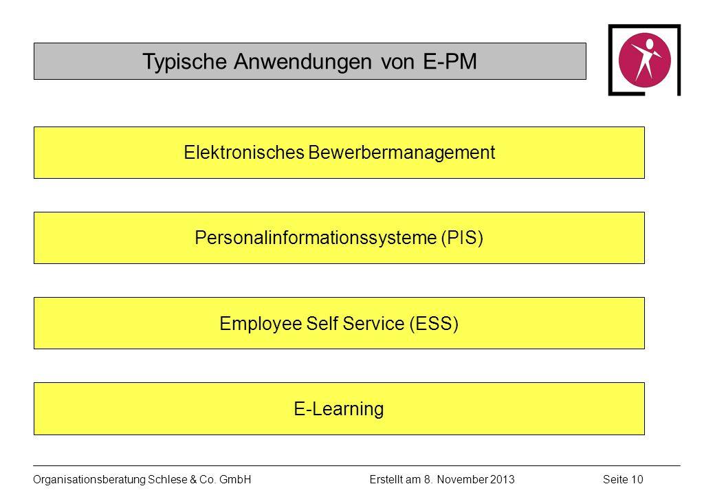 Organisationsberatung Schlese & Co.GmbHSeite 10 Erstellt am 8.