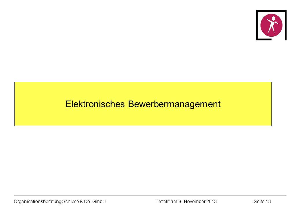 Organisationsberatung Schlese & Co.GmbHSeite 13 Erstellt am 8.