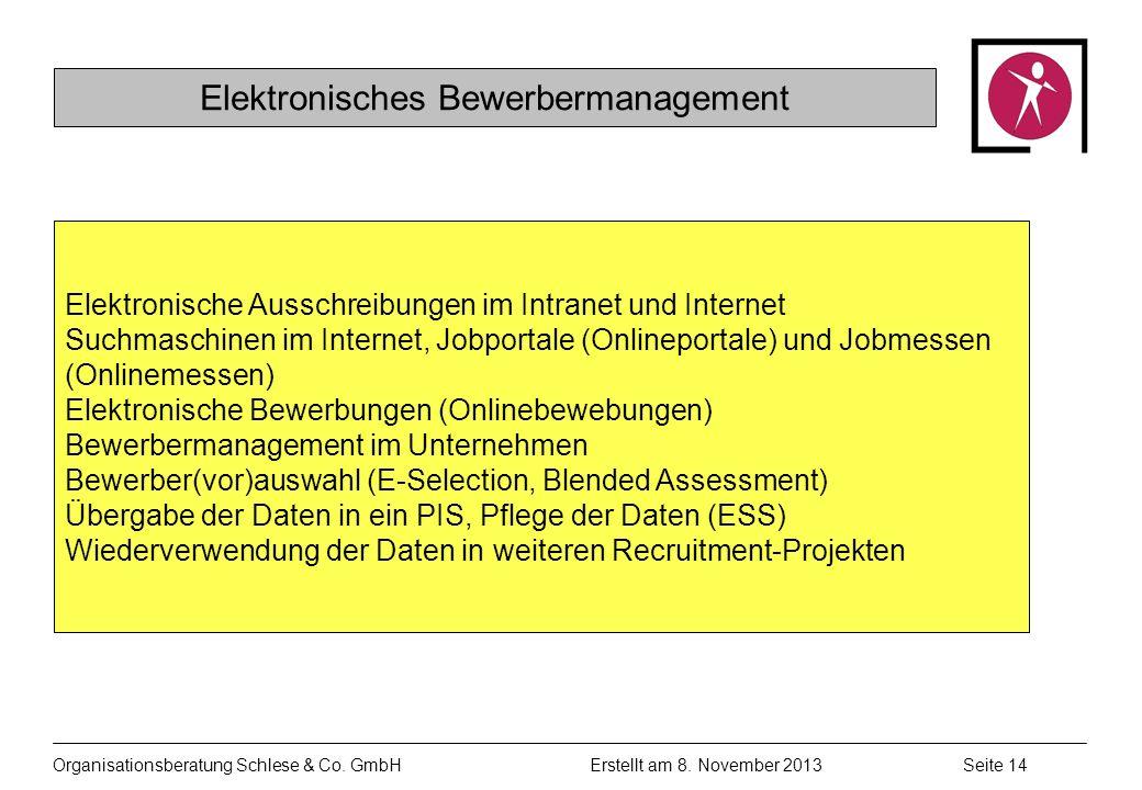 Organisationsberatung Schlese & Co.GmbHSeite 14 Erstellt am 8.