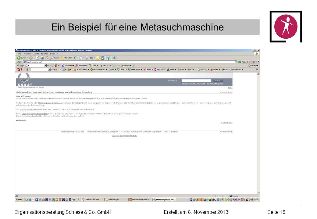 Organisationsberatung Schlese & Co.GmbHSeite 16 Erstellt am 8.