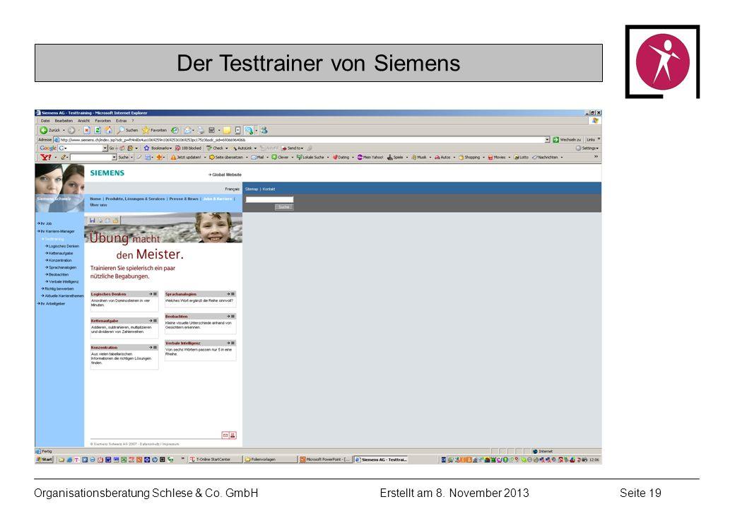 Organisationsberatung Schlese & Co.GmbHSeite 19 Erstellt am 8.