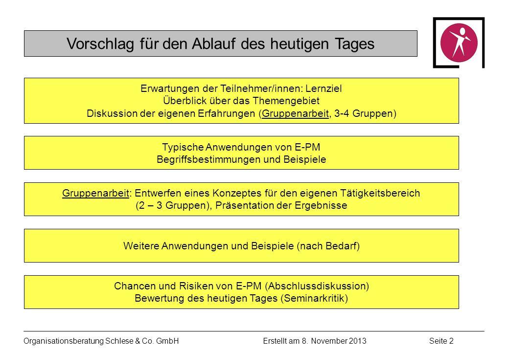 Organisationsberatung Schlese & Co.GmbHSeite 2 Erstellt am 8.