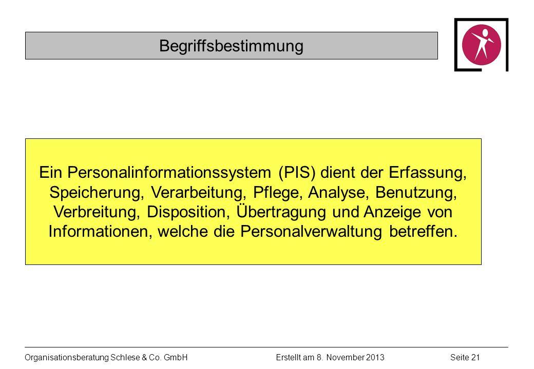 Organisationsberatung Schlese & Co.GmbHSeite 21 Erstellt am 8.