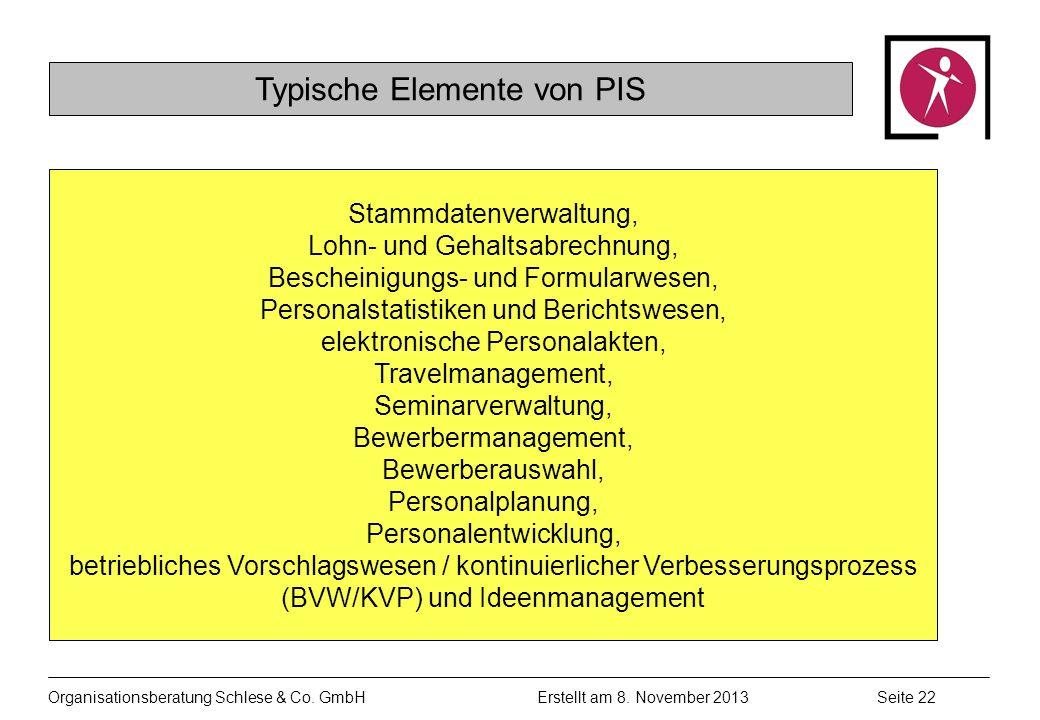 Organisationsberatung Schlese & Co.GmbHSeite 22 Erstellt am 8.
