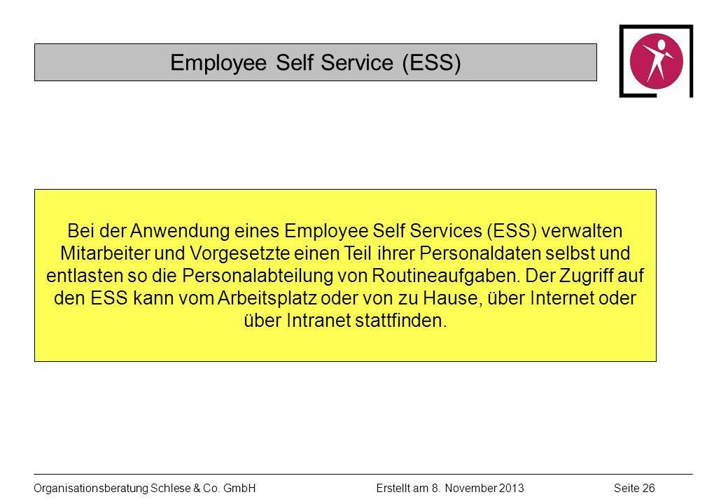 Organisationsberatung Schlese & Co.GmbHSeite 26 Erstellt am 8.