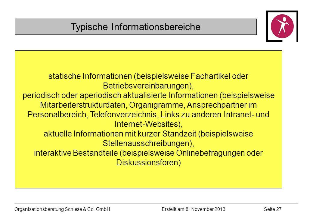 Organisationsberatung Schlese & Co.GmbHSeite 27 Erstellt am 8.