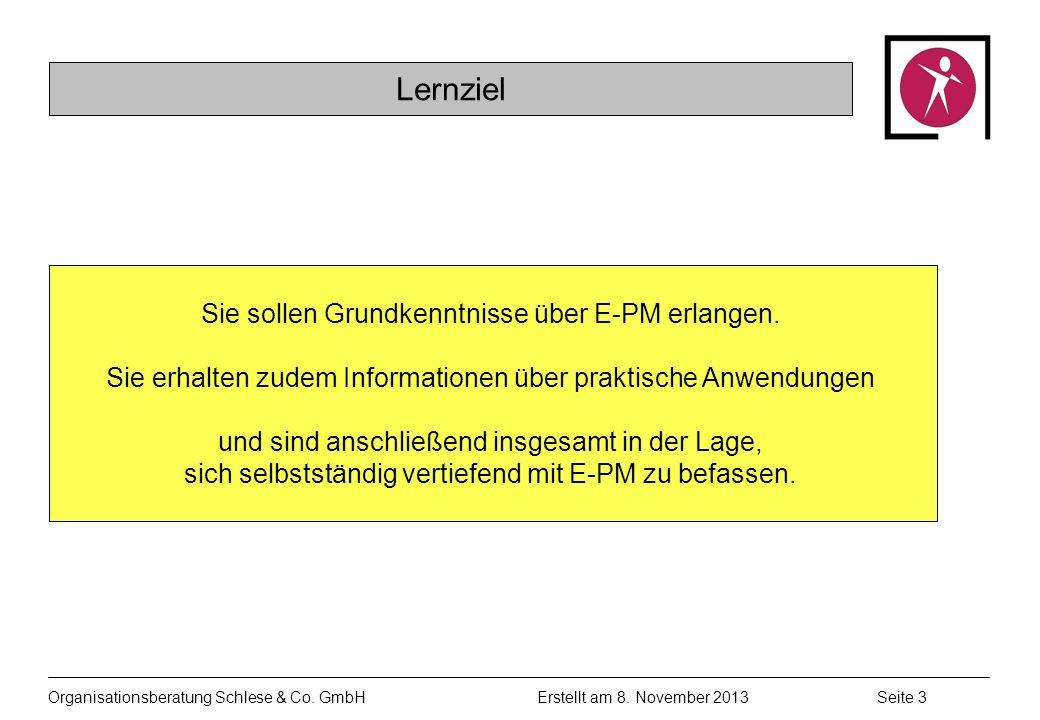Organisationsberatung Schlese & Co.GmbHSeite 3 Erstellt am 8.