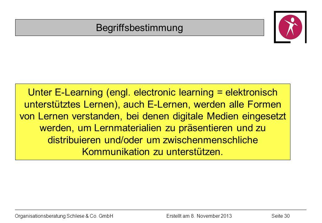 Organisationsberatung Schlese & Co.GmbHSeite 30 Erstellt am 8.