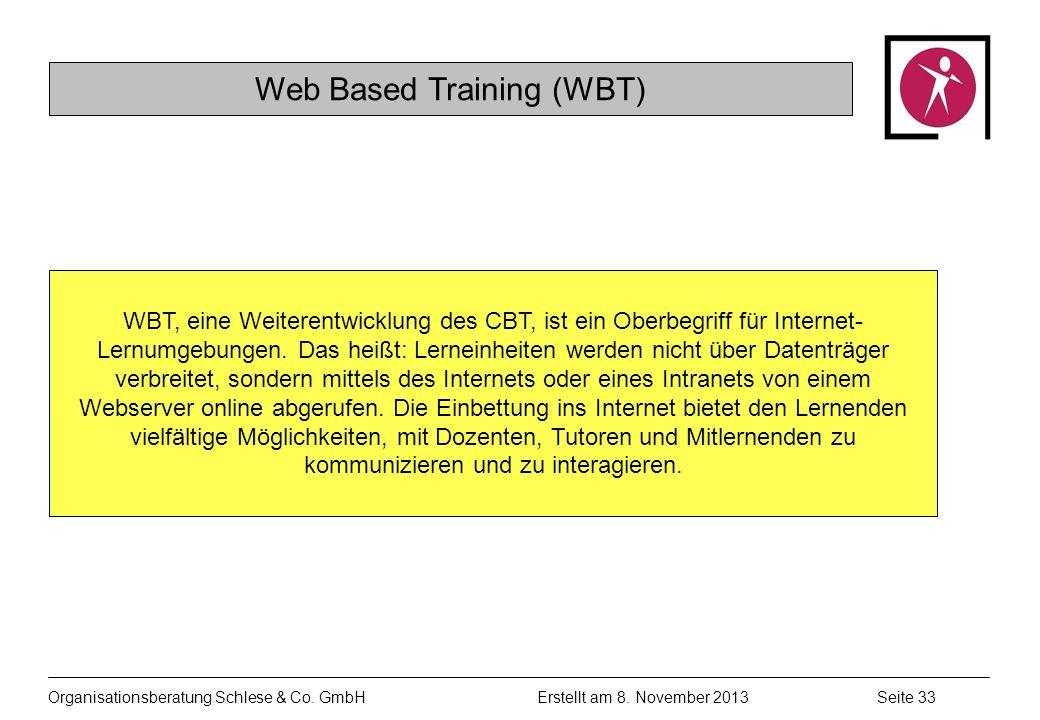 Organisationsberatung Schlese & Co.GmbHSeite 33 Erstellt am 8.