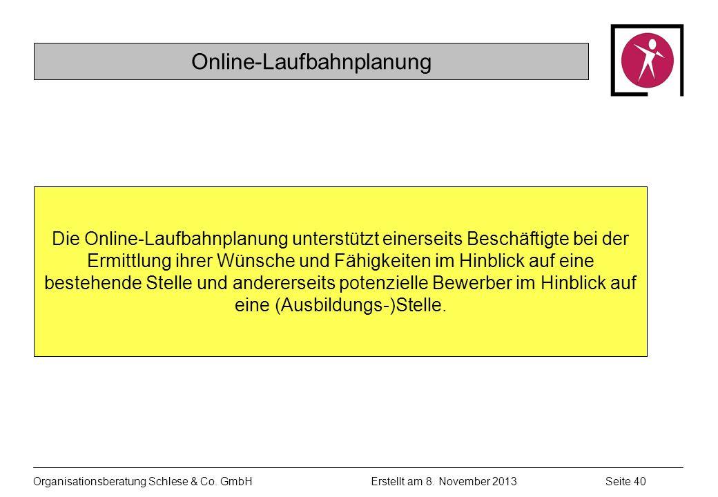 Organisationsberatung Schlese & Co.GmbHSeite 40 Erstellt am 8.