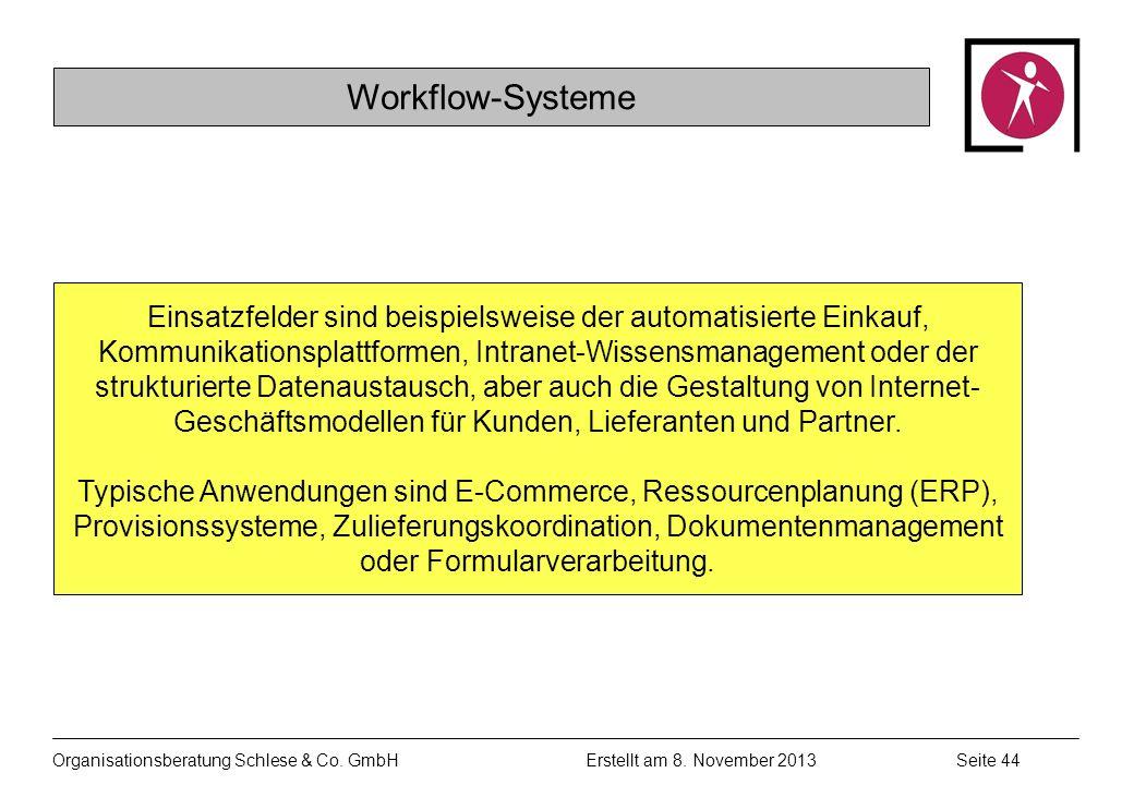 Organisationsberatung Schlese & Co.GmbHSeite 44 Erstellt am 8.