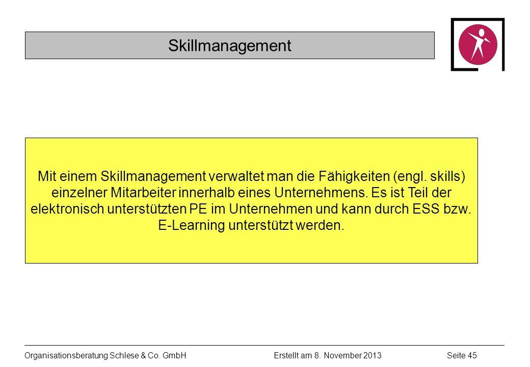 Organisationsberatung Schlese & Co.GmbHSeite 45 Erstellt am 8.