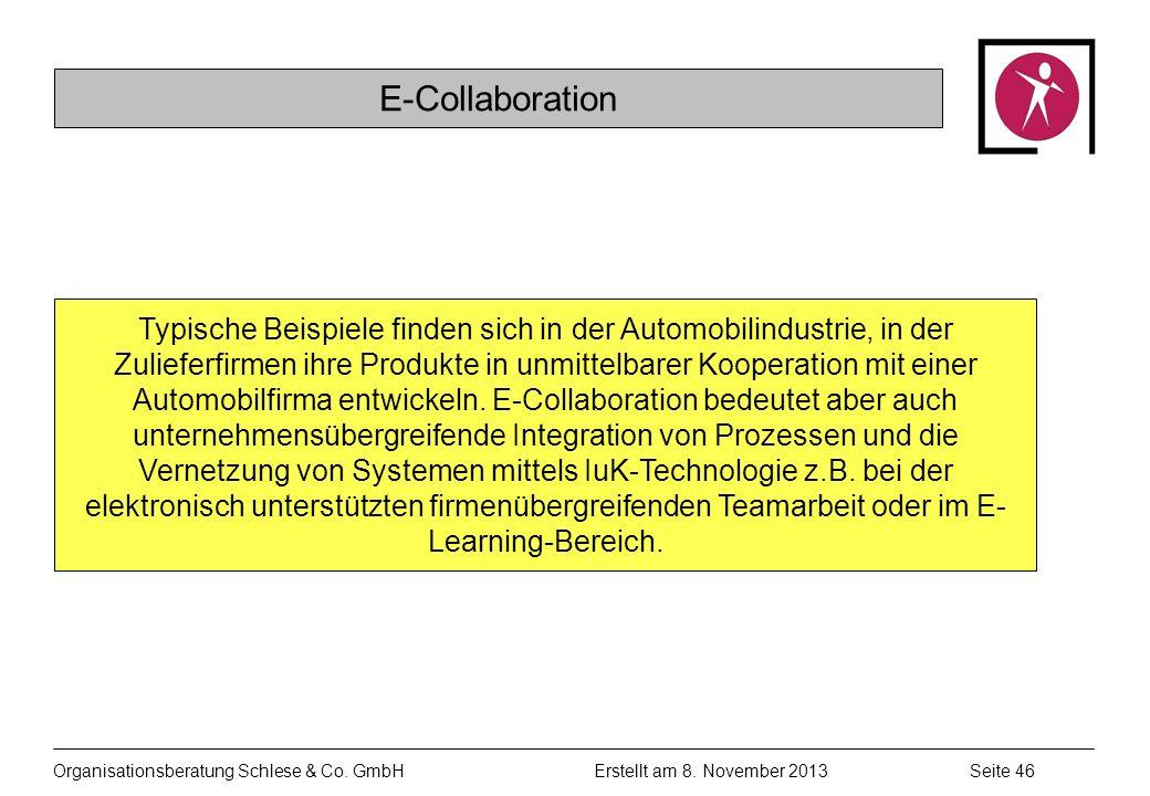 Organisationsberatung Schlese & Co.GmbHSeite 46 Erstellt am 8.