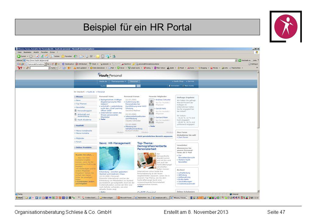 Organisationsberatung Schlese & Co.GmbHSeite 47 Erstellt am 8.