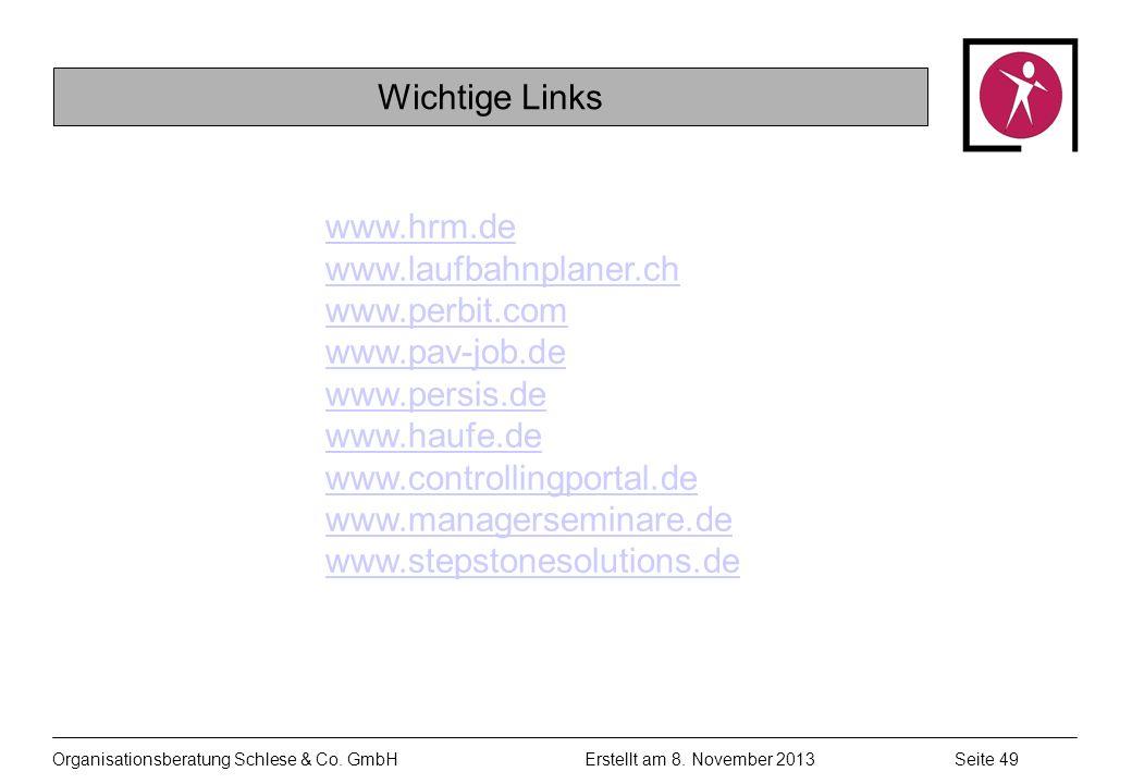 Organisationsberatung Schlese & Co.GmbHSeite 49 Erstellt am 8.