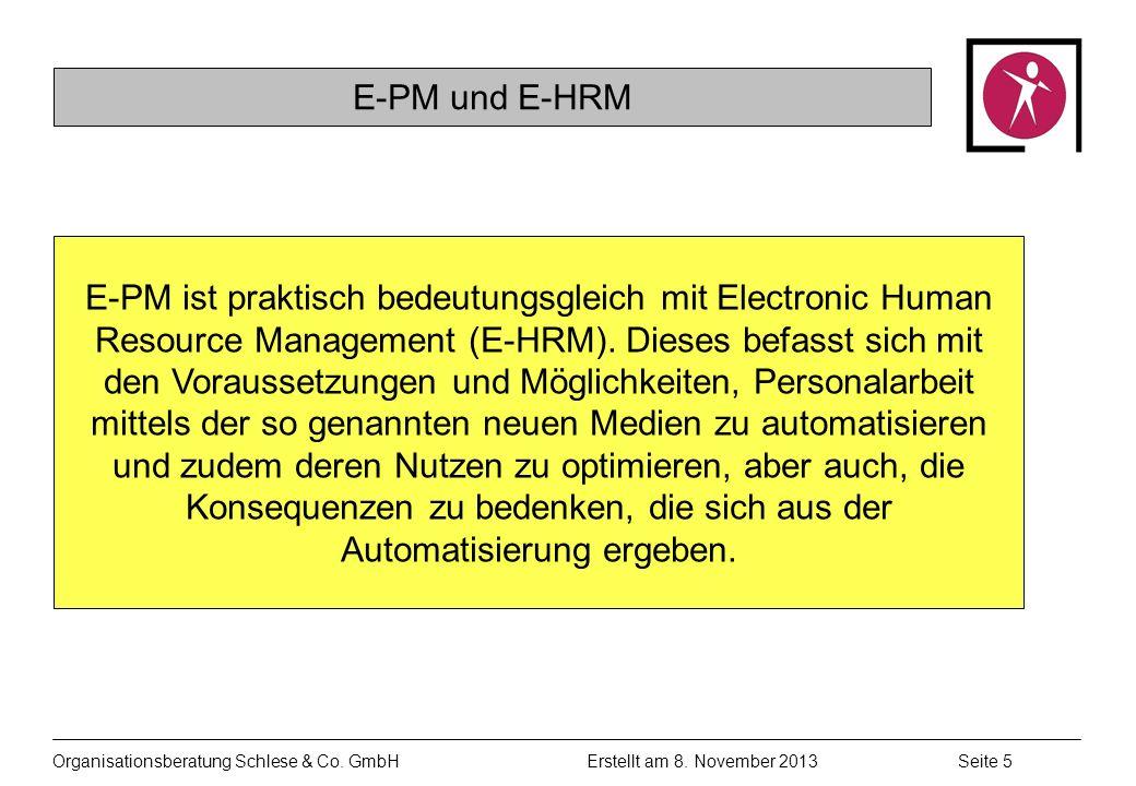 Organisationsberatung Schlese & Co.GmbHSeite 5 Erstellt am 8.