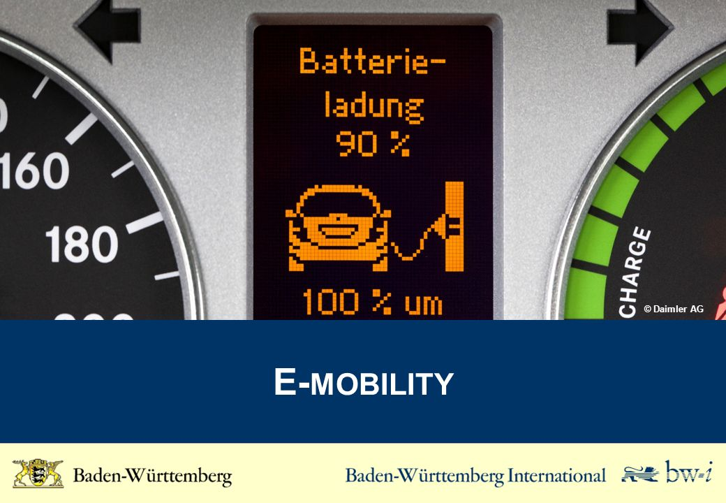 Key Figues for the E-Mobility Industry Source: www.e-mobilbw.de Number of companies in Baden-Württemberg which are active in the core issue of E-Mobility