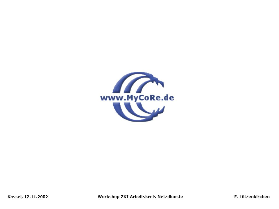 Kassel, 12.11.2002 Workshop ZKI Arbeitskreis Netzdienste F. Lützenkirchen Video-Storyboard, XML-Darstellung