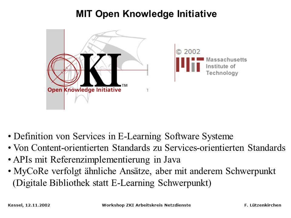 Kassel, 12.11.2002 Workshop ZKI Arbeitskreis Netzdienste F. Lützenkirchen Projekt KUPFER: Graphischer Editor für Aufgaben Quelle: KUPFER Prototyp Scre