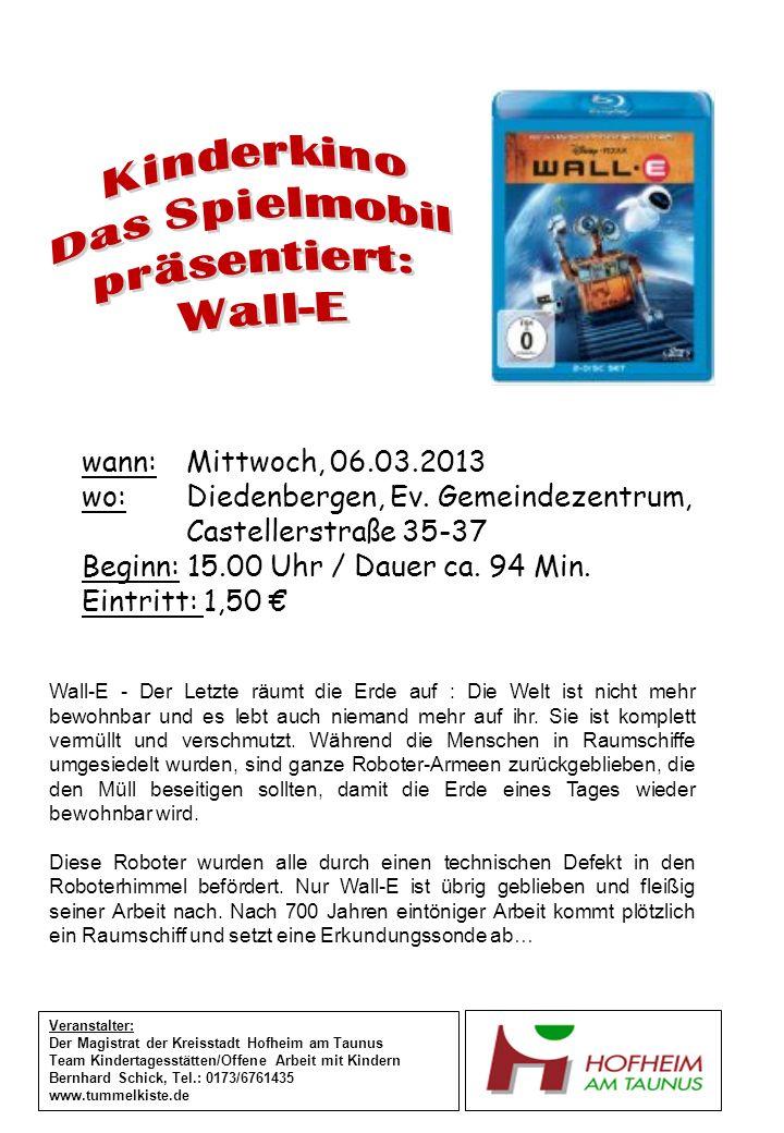 wann: Donnerstag, 07.03.2013 wo: Wallau, Außenstelle, Recepturhof 4 Beginn: 15.00 Uhr / Dauer ca.