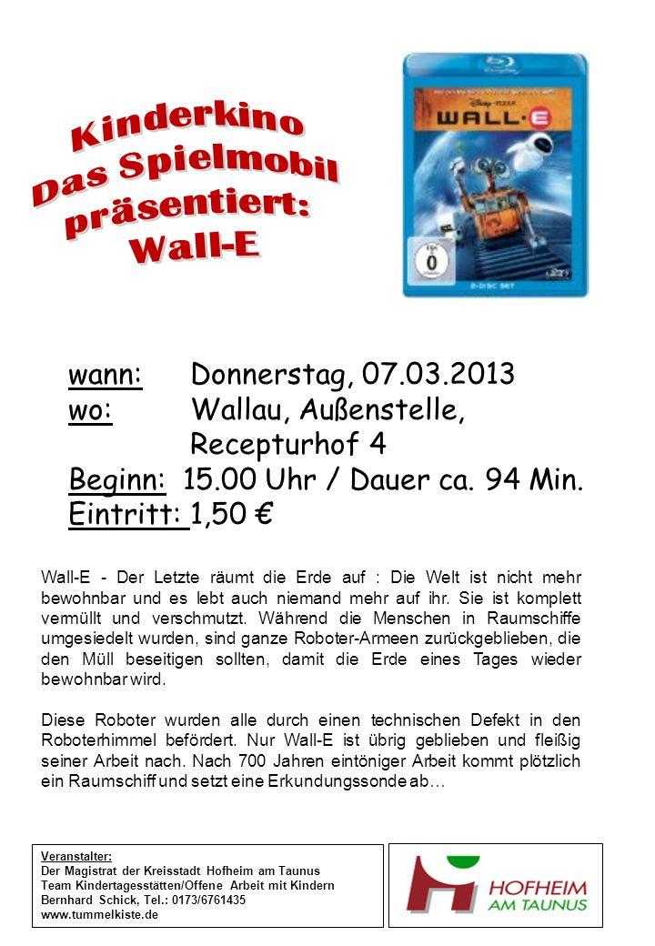 wann: Dienstag, 12.03.2013 wo: Marxheimer Schule Schulstraße.31 Beginn: 15.00 Uhr / Dauer ca.