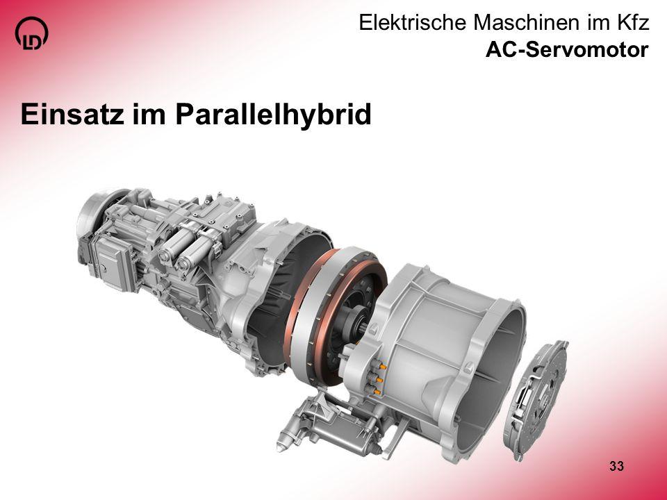 33 Elektrische Maschinen im Kfz AC-Servomotor Einsatz im Parallelhybrid