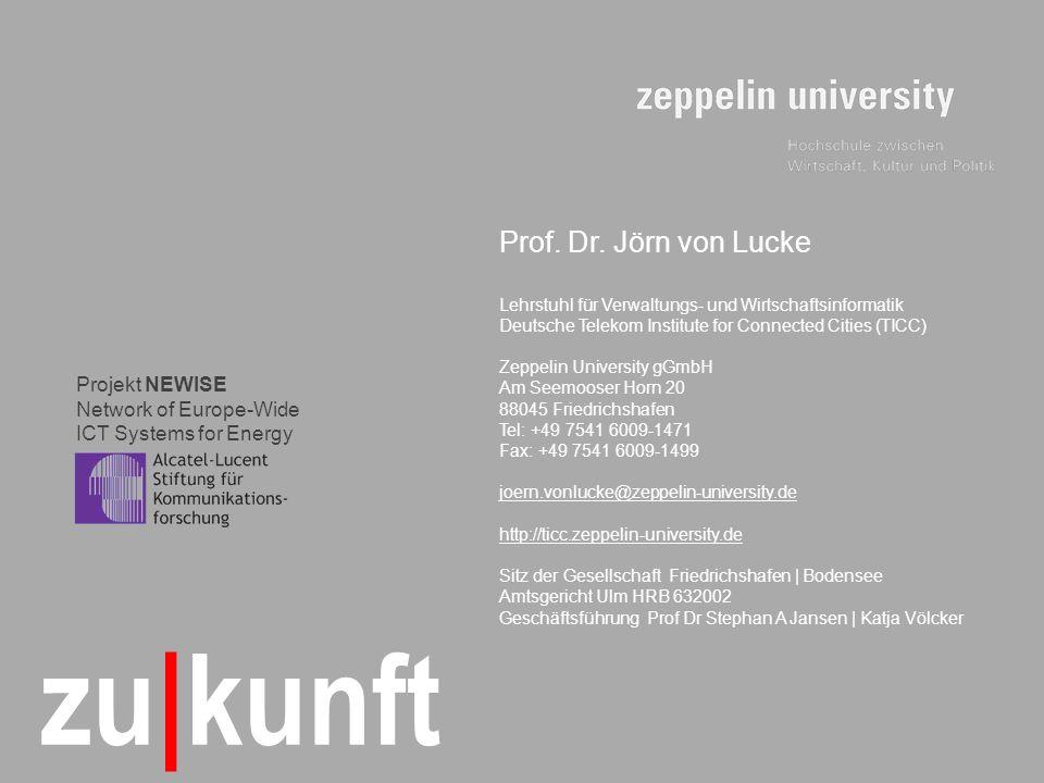 © TICC – Prof.Dr. Jörn von Lucke | 2009-08 17 zu|kunft Prof.