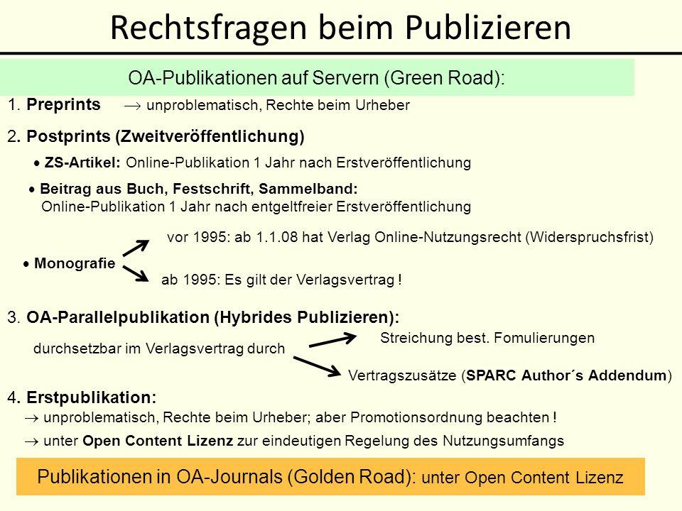 Open Content Lizenzen Vervielfältigung,Verbreitung allen erlaubt .