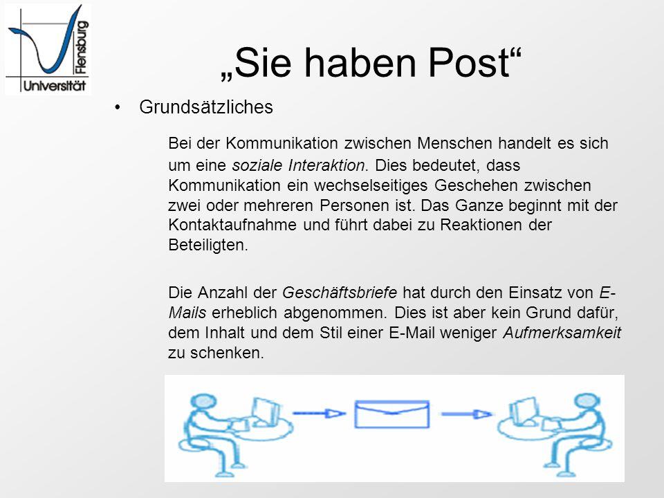 E-Mail Regeln Beachtet man folgende Regeln, so wird auch die E-Mail Korrespondenz die gewünschte Wirkung erzielen.