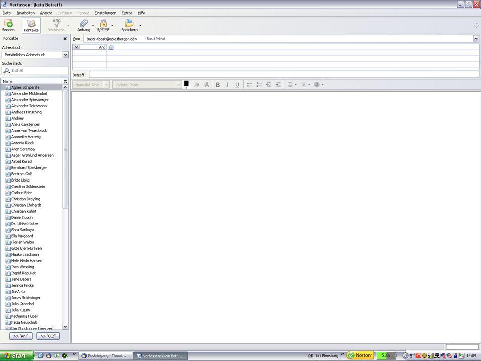 E-Mail Fragen & Überlegungen Was genau ist denn das Problem mit der E-Mail in der internen Kommunikation.