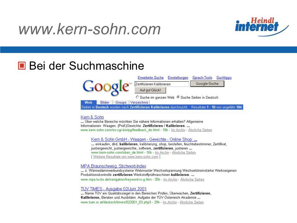 www.kern-sohn.com Bei der Suchmaschine