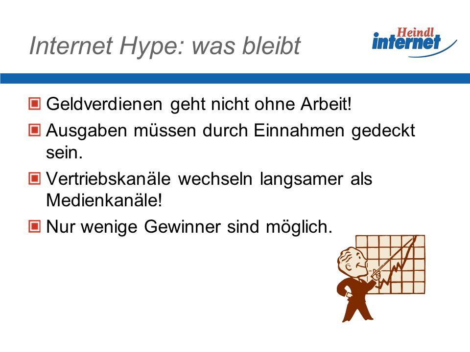 Internet heute Über 1.000.000.000 Internetseiten 5.000.000.de Domains 95% der Besuche auf Internetseiten findet auf 1% der Internetseiten statt.