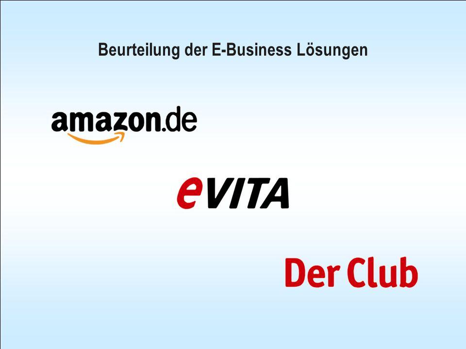 Beurteilung der E-Business Lösungen