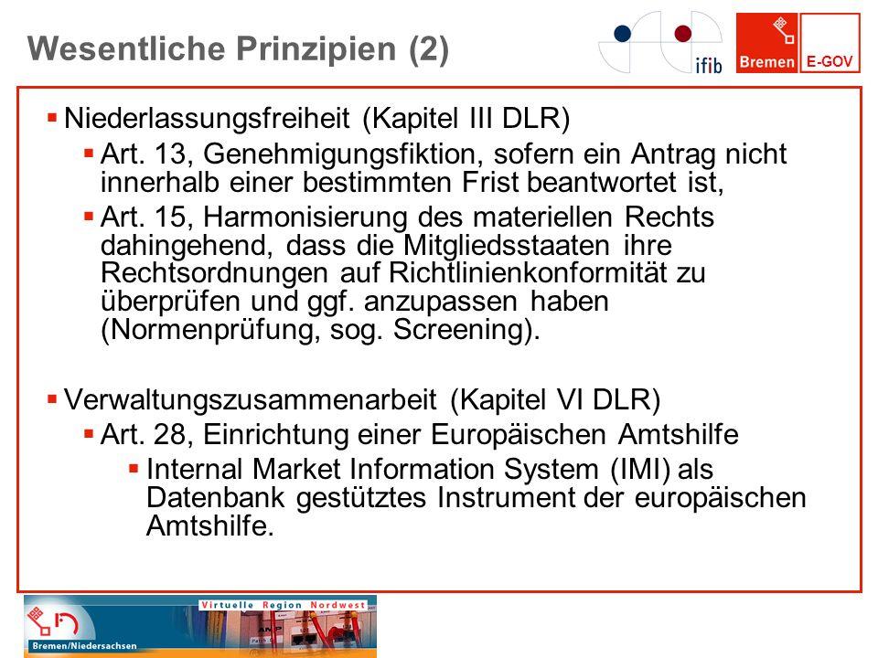 E-GOV Deutschland-Online-Projekt EU-Dienstleistungsrichtlinie