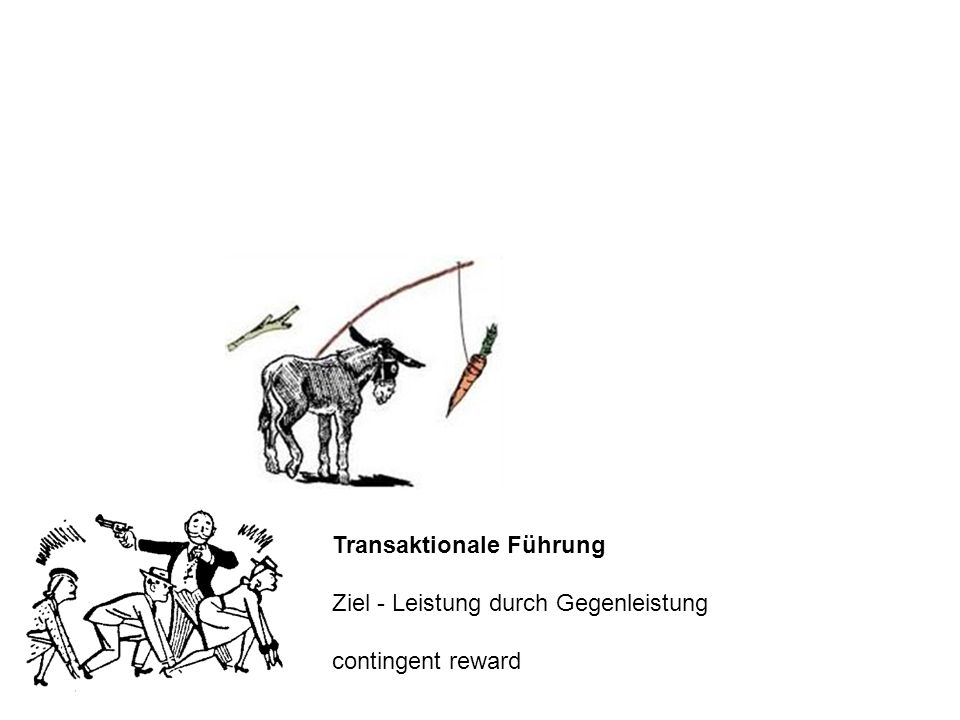 Transaktionale Führung Ziel - Leistung durch Gegenleistung contingent reward