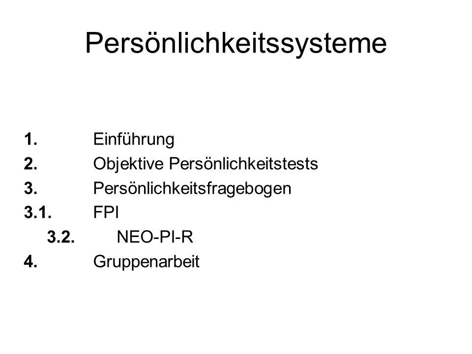 Persönlichkeitssysteme 1.