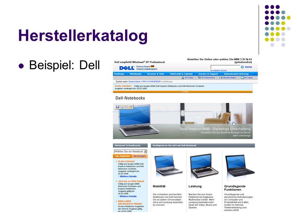 Herstellerkatalog Beispiel: Dell