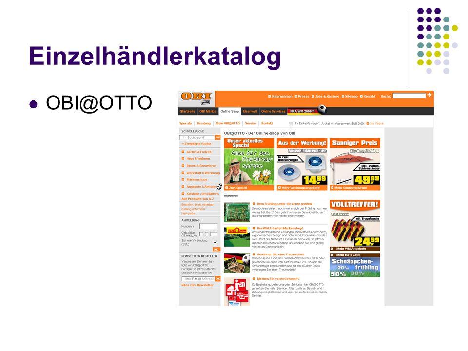 Einzelhändlerkatalog OBI@OTTO