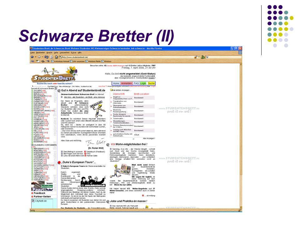 Schwarze Bretter (II)